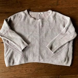 Anthropologie Moth purple knit sweater